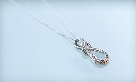 Good for an Infinity Diamond Pendant with Sterling Silver Chain (a $99 value) - Infinity Diamond Pendant in