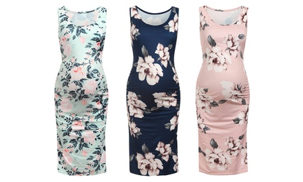 Women's Floral Print Maternity Dress