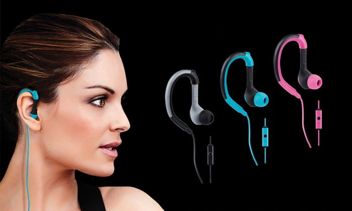 Merkury Innovations Stride Sport Earbuds with In-Line Microphone: Merkury Innovations Stride Sport Earbuds with In-Line Microphone. Multiple Colors Available. Free Returns.