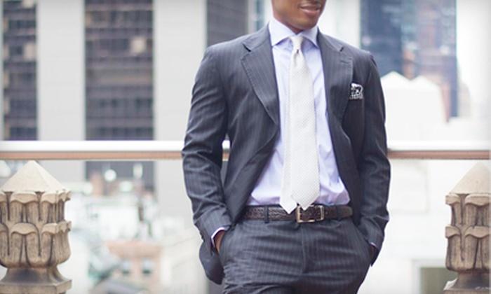 Borghesiani - Midtown Center: Custom-Made Italian Wool Suit or Barberis Canonico Fabric Suit at Borghesiani (64% Off)