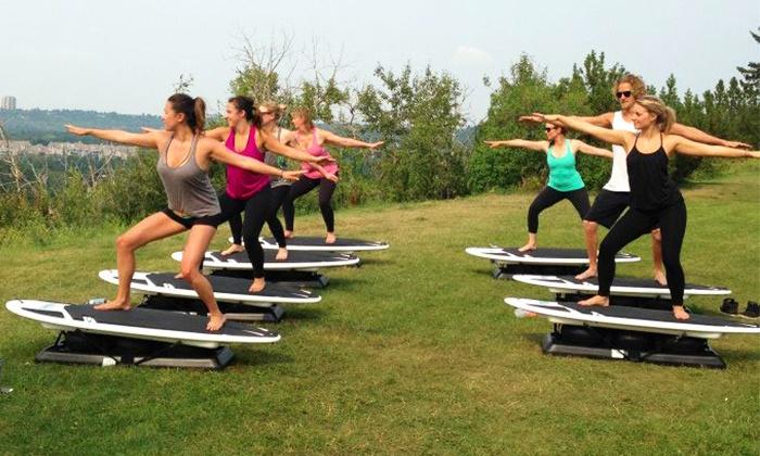 Surfset Edmonton - Papaschase Industrial: 5 or 10 Surfboard-Fitness Classes at Surfset Edmonton (50% Off)