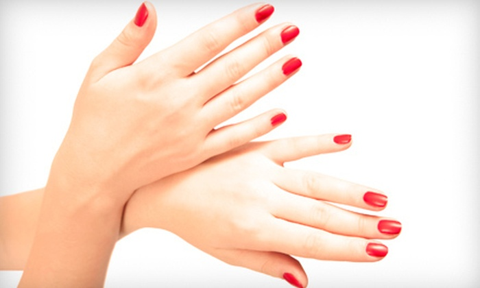 Exotic Nails - Pascoag: Express Mani-Pedi or One or Three Gel Manicures at Exotic Nails (Up to 56% Off)