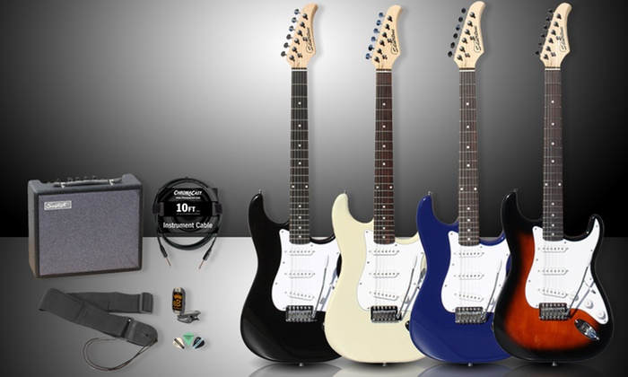 Silvertone Electric Guitar Kit: Silvertone Electric Guitar Kit. Multiple Colors Available. Free Shipping and Returns.