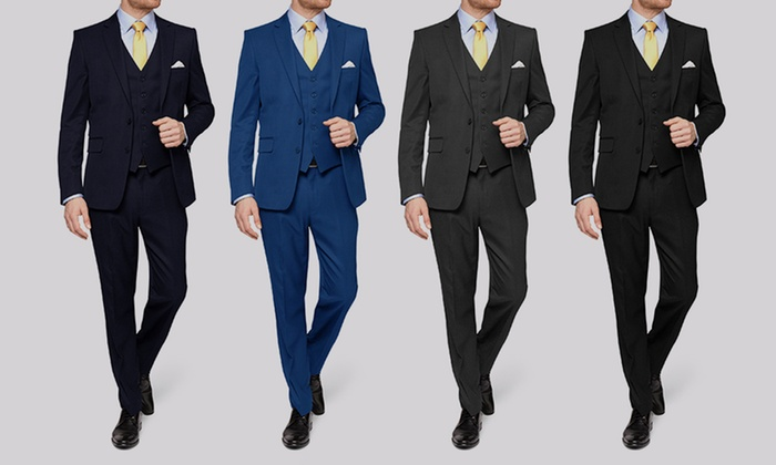 Vincent Moretti Men's Slim-Fit Suits (3-Piece)
