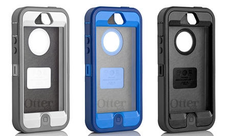 Otterbox Defender iPhone 5 Hybrid Case and Holster in Black, Blue Night, or White Glacier. Free Returns.