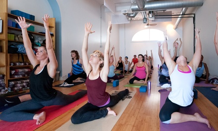 $59 for One Month of Unlimited Classes at Invoke Yoga and Pilates Studio ($139 Value)