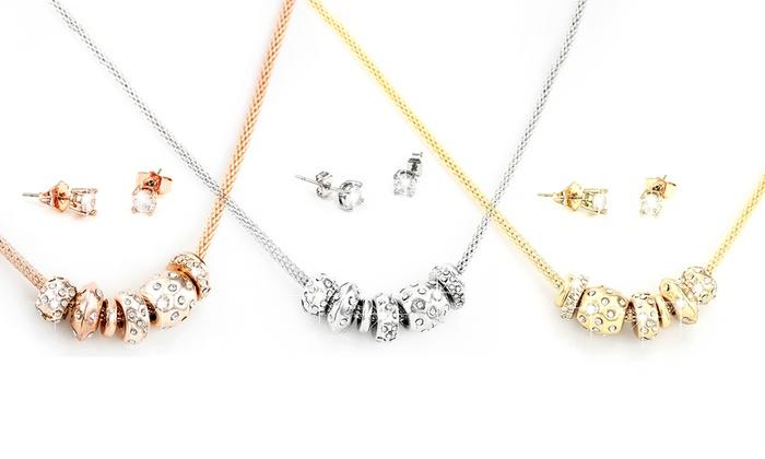 Groupon Goods Global GmbH: 1, 2 ou 3 parures Triton, composées d'un collier et d'une paire de boucles d'oreilles, ornées de cristaux Swarovski®