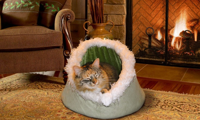 Foam Padded Cat Cave Pet Bed Groupon Goods