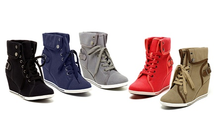 groupon daily deal - Bucco Aviva Women's Wedge Sneakers. Multiple Options Available. Free Returns.