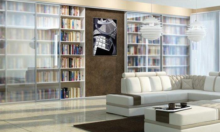 Indeco - Wiele lokalizacji: Wykonanie szafy lub garderoby z drzwiami przesuwnymi w Indeco® Wybrzeże – 99,90 zł za groupon zniżkowy wart 900 zł
