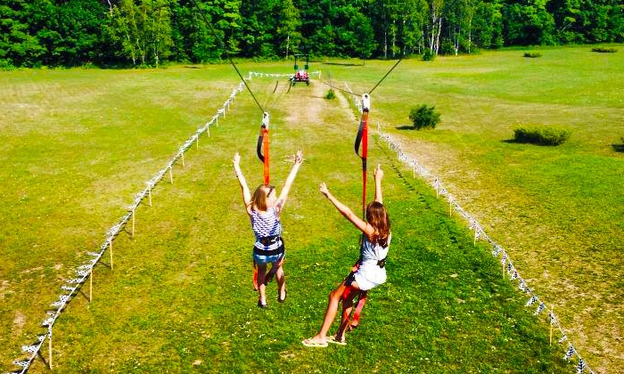 Gravity Trails - Fish Creek: $999 for a Two- to Three-Hour Mobile Zipline-Racer Rental from Gravity Trails ($2,900 Value)