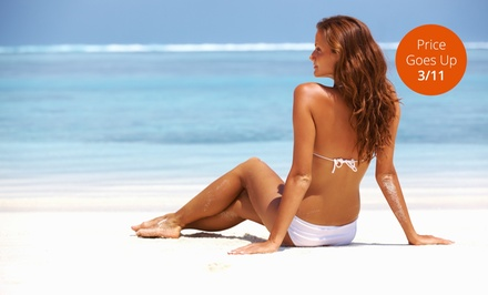 30 Days of Unlimited Tanning or One or Three Mystic or MyMyst Spray Tans at Distinctive Tan (Up to 92% Off)