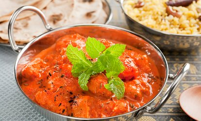 Indian Main Course with a Side of Rice or Naan for Two, Four or Six at Taj Lounge (Up to 60% Off)