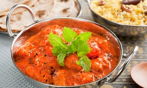 Taj Lounge: Indian Main Course with a Side of Rice or Naan for Two, Four or Six at Taj Lounge (Up to 60% Off)