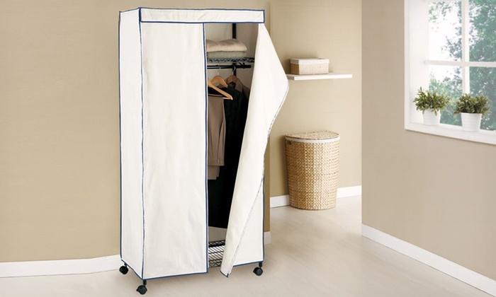 Neu Home Industrial Storage Wardrobe: $79.99 for a Neu Home Industrial Storage Wardrobe with a Canvas Cover ($174.99 List Price). Free Shipping.