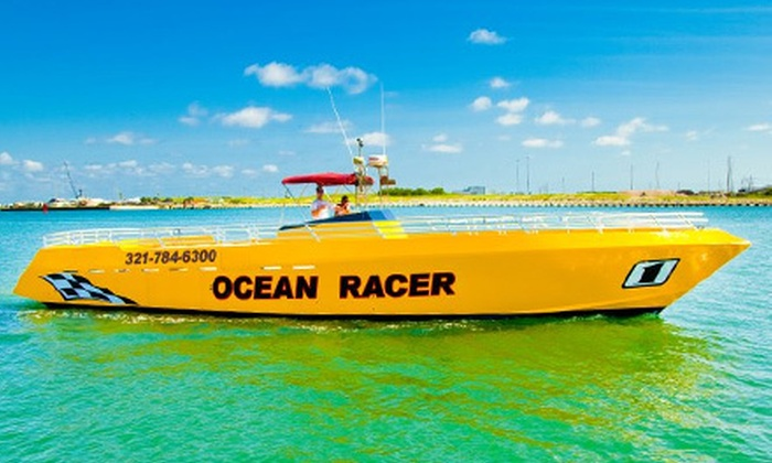 Ocean Racer Speed Boat Tours - Cocoa Beach-Cape Canaveral: $22 for a Speedboat Ride for One Adult at Ocean Racer Speed Boat Tours in Cape Canaveral ($45 Value)