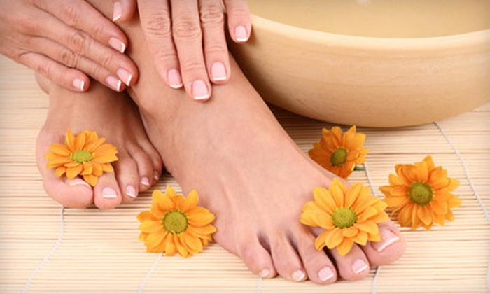 Spa on The Square - Canton: One or Three Classic Mani-Pedis at Spa On The Square (Up to 59% Off)