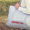 Logo Brands NCAA Ikat Zippered Tote with Front Pocket