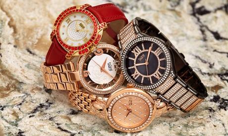 Reloj de pulsera para mujer Burgi con cristales Swarovski®