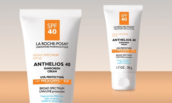 1.7 Oz. La Roche-Posay Anthelios 40 Sunscreen Cream: 1.7 Oz. Bottle of La Roche-Posay Anthelios 40 Sunscreen Cream. Free Shipping.
