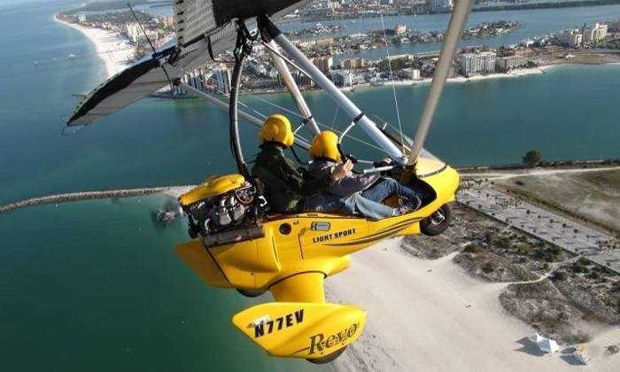 Silver Lining Aviation - Multiple Locations: $145 for a 30-Minute Introductory Powered-Hang-Glider Flight at Silver Lining Aviation ( $366 Value)