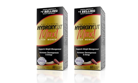 2-Pack Hydroxycut Max! Pro Clinical Weight-Management Supplements for Women; 60ct. Capsules
