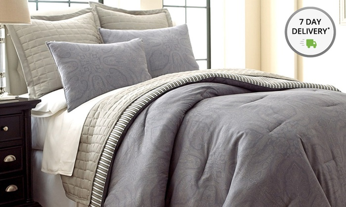 Six-Piece Reversible Comforter & Coverlet Set: Six-Piece Reversible Comforter & Coverlet Set. Multiple Styles Available. Free Shipping and Returns.