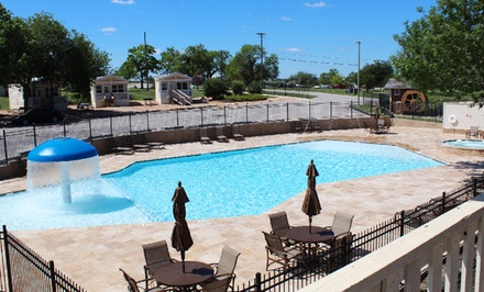 Stay at Hill Country Cottage and RV Resort in New Braunfels, TX; Dates into May