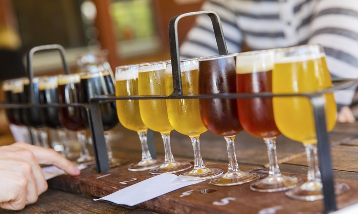 Brew Five Points - Riverside: Beer Flight, Pints, and Artisan Toast for Two or Four at Brew Five Points (Up to 47% Off)