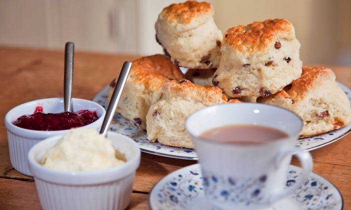 The Tea Party Cafe - Multiple Locations: Afternoon Tea for Two at The Tea Party Cafe (42% Off). Two Options Available.
