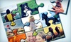 """Puzzle Freak: $15 for Three Photo Puzzles in a Combination of Sizes 4""""x6"""" and 8""""x10"""" from Puzzle Freak ($53 Value)"""