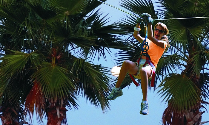Zoom Air Adventure Park - Daytona Beach : Ziplining and Aerial Adventure Experience for Two or Four at Zoom Air Adventure Park (Up to 46% Off)