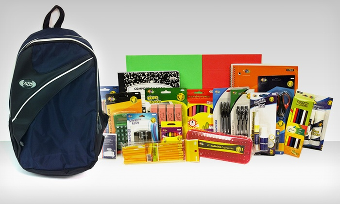 Backpack or Messenger Bag with 21-Piece School Supply Bundle: $36.99 for Backpack or Messenger Bag with School Supplies ($105 List Price). Multiple Colors. Free Shipping and Returns.