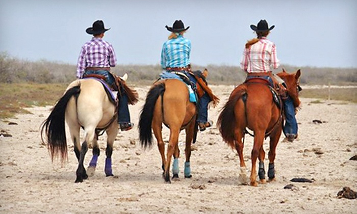 Coquat Ranch - Aransas Pass: Horseback Trail Ride for One, Two, or Three at Coquat Ranch (Up to 56% Off)