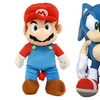 Plush Mario and Sonic Kids Backpacks