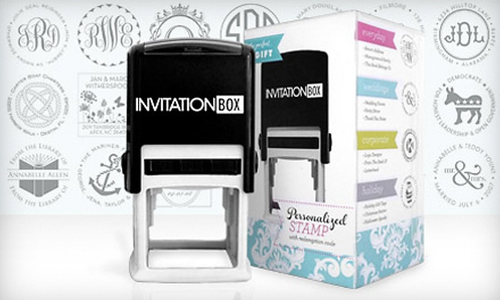 Personalized Self-Inking Stamper: $29 for a Self-Inking Stamper with a Personalized Stamp Face from InvitationBox with Shipping ($57.94 Total Value)
