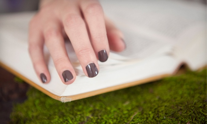 Nails by Natasha - Spenard: One or Two Shellac Manicures or Set of Acrylics at Nails by Natasha (Up to 54% Off)