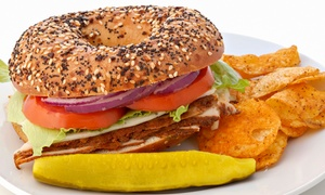 Big Apple Bagels: $10 for $20 Worth of Bagels, Sandwiches, and Coffee at Big Apple Bagels