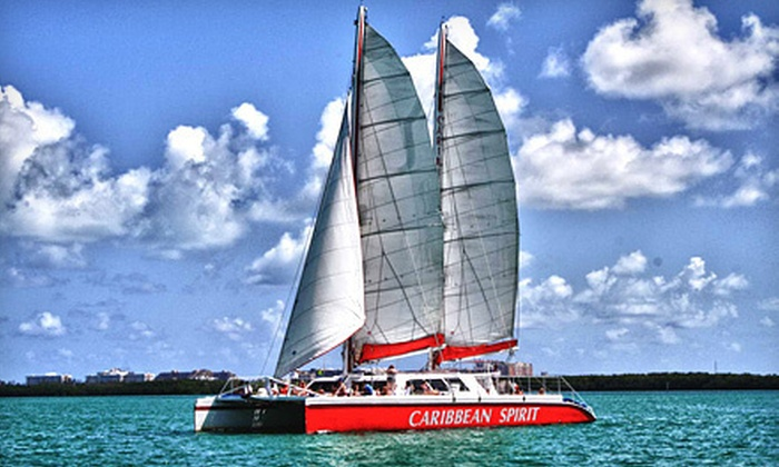 Tropical Sailing - Downtown Miami: $25 for a Two-Hour Cast Away the Day Champagne Sunset Cruise for One from Tropical Sailing ($50 Value)