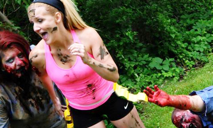 Lake Eerie Zombie Mud Run - Huron: Entry and Zombie Makeup for One or Two to the Lake Eerie Zombie Mud Run on September 14 (Up to 51% Off)