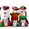 4-Pack Christmas Wine Bottle Holder/Gift Bag with Greeting Card Frame
