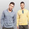 X-Ray Jeans Men's Striped Hoodie