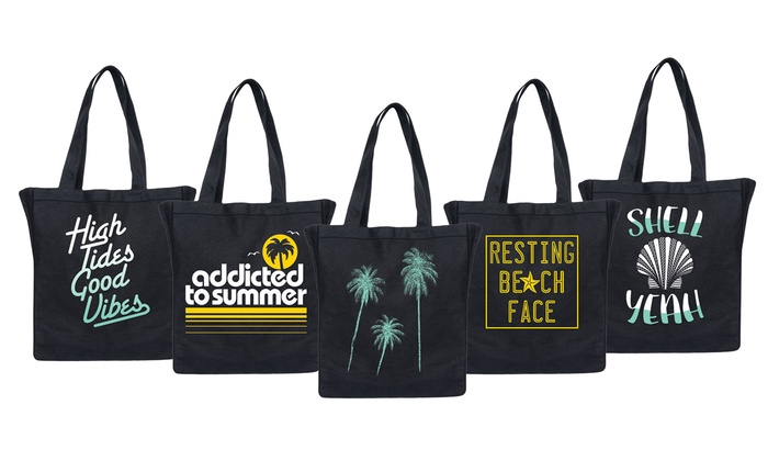 Beach Canvas Totes