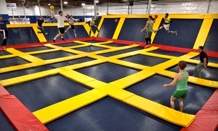 Sky High Sports - Miramar: Trampoline Jump Time, Trampoline Dodge-Ball Court Rental, or AIRobics Classes at Sky High Sports (Up to 52% Off)
