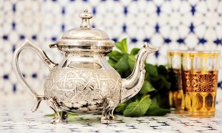 Merienda árabe para 2 o 4 con tetera de té a elegir, surtido de dulces marroquíes y crepe marroquí desde 6€ en Marrakech