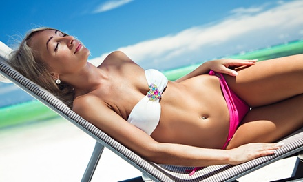 UV and Spray Tanning at R U Tan (Up to 63% Off). Five Options Available.