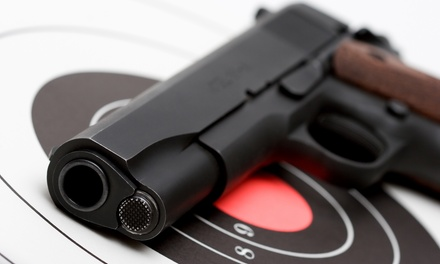 Shooting Range Package for Two with Optional Private Instruction at St. Bernard Indoor Shooting Center (56% Off)