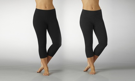 groupon daily deal - Marika Magic Butt Booster Leggings in Black or Heather Charcoal