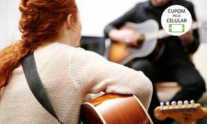 Escola De Música Roberto Ceccato: Escola de Música Roberto Ceccato – Centro: 1, 2 ou 3 meses de aulas individuais de guitarra, baixo, violão ou bateria