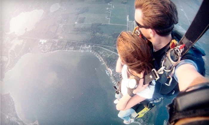 Skydive Lake Wawasee - Turkey Creek: Tandem Skydive for One, Two, or Four with Photo Package from Skydive Lake Wawasee (Up to 47% Off)